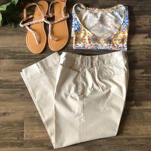 🐠 Loft Khaki Cropped Pants